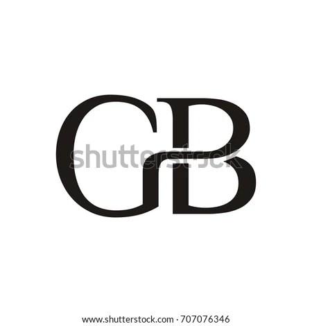GB BG Letter Logo Template Design Stock Vector 707076346