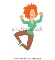 young beautiful woman dancing zumba