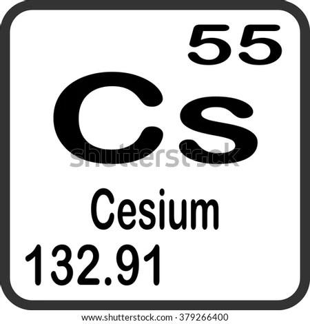 Periodic Table Elements Cesium Stock Vector 379266400