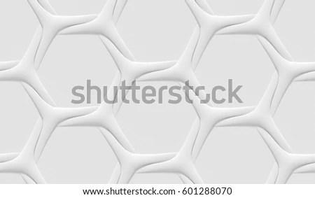White Polygonal Triangle Geometric Texture 3d Stock