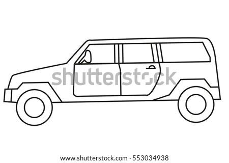 Land Rover Defender 90 Hard Top Stock Vector 778875
