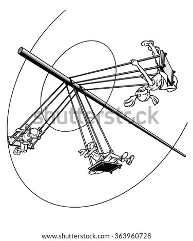 Running Sushi Cartoon Funny Picture Stock Vector 117094573