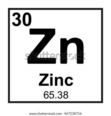 Periodic Table Element Zinc Stock Vector 467238716