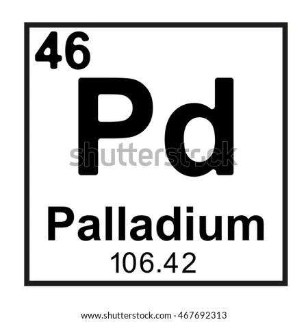 Periodic Table Element Palladium Stock Vector 467692313