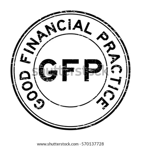 Grunge Black Glp Good Laboratory Practice Stock Vector
