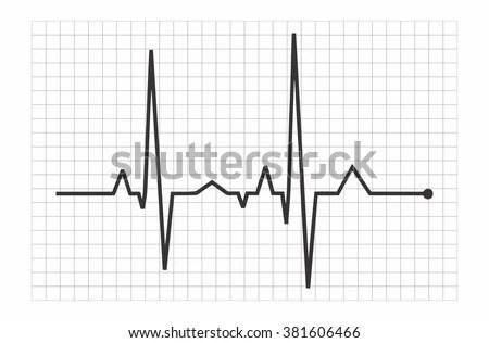 Vector Illustration Heart Rhythm EKG Stock Vector