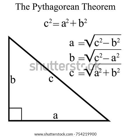 Pythagorean Theorem Pythagoras Theorem Vector Illustration