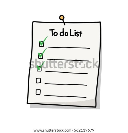 Do List Plan Reminder Hand Drawn Stock Vector 562119679