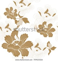 Japanese Pattern Seamless Vector Traditional Flower Stock ...