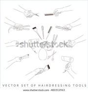 hand holding scissors stock