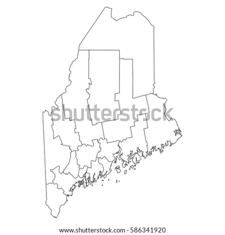 Maine Outline Stock Images, Royalty-Free Images & Vectors