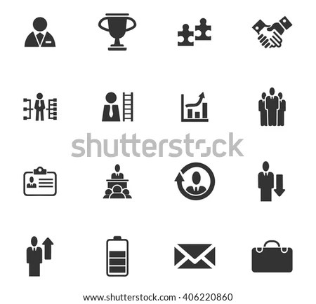 Business Icons Set Symbols Web User Stock Vector 406220860