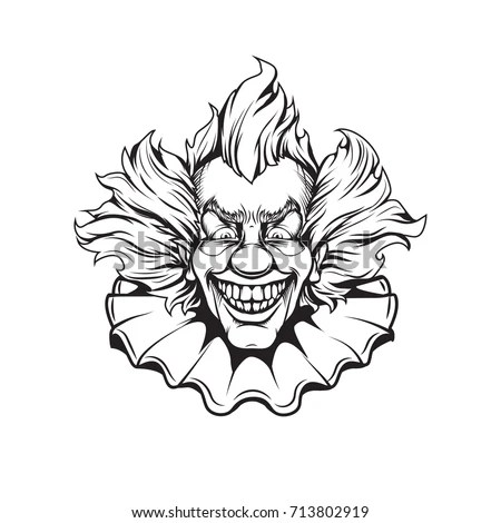 Clown Adult Coloring Page Stock Vector 713802919