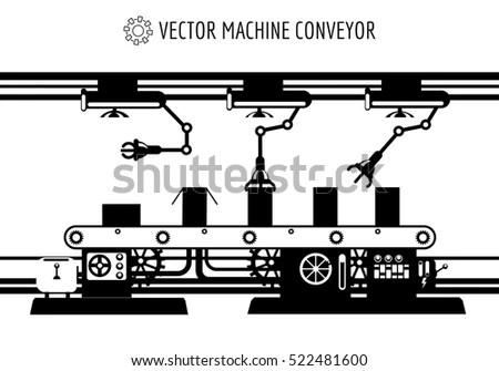 Manufacturing Production Line Conveyor Belt Tracks Stock