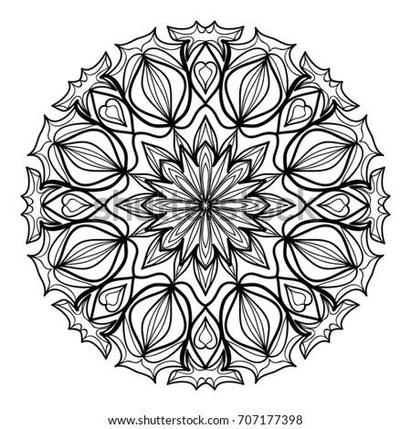 Black White Hexagonal Ethnic Pattern Tribal Stock Vector