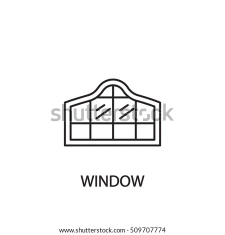 Wooden Fence Line Icon Railing Outline Stock Vector