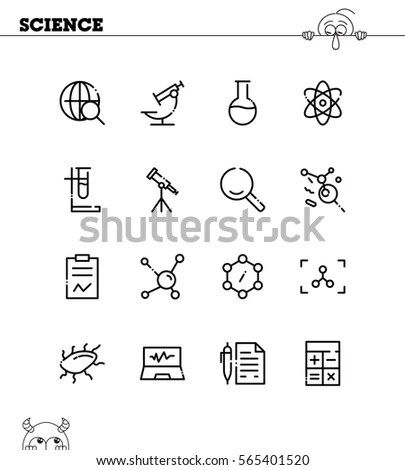 Clinical Laboratory Thin Line Icons Medicine Stock Vector