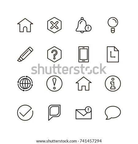 Info Icon Set Collection High Quality Stock Vector