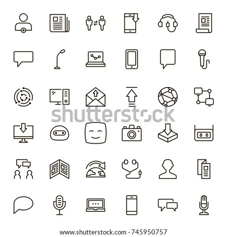 Microphone Outline Stock Images, Royalty-Free Images