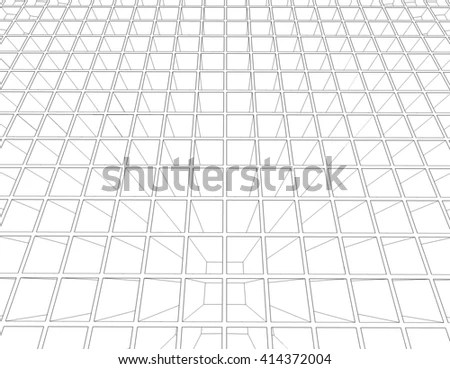 Wall Rectangle Tiles Grid Square Tiles Stock Illustration