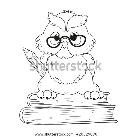 Owl Graduation Page Coloring Pages