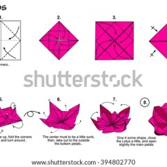 Origami Flower Instruction Diagram 2000 Ford F150 Power Window Wiring Stock Images, Royalty-free Images & Vectors | Shutterstock