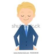 teenager cartoon boy blond hair