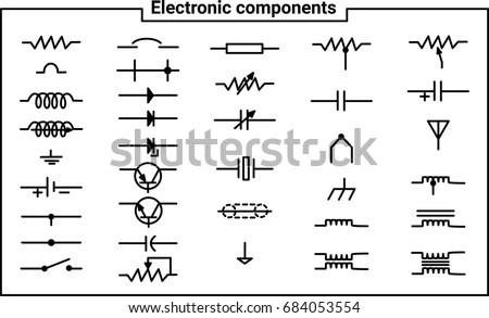 Ansi Motor Starter Wiring Diagram Electrical Symbols Stock Images Royalty Free Images