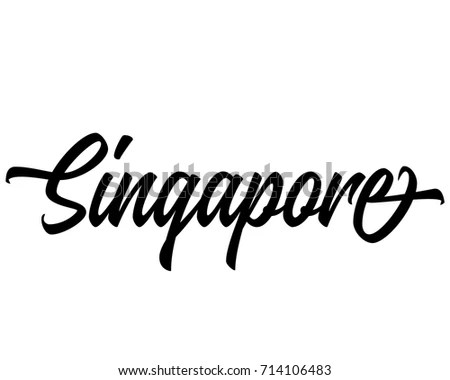 Singapore Word Stock Images, Royalty-Free Images & Vectors