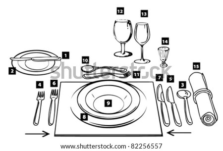 Table Setting Diagram For, Table, Free Engine Image For
