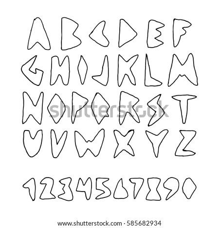 Graffiti Alphabet Cool Street Style Font Stock Vector