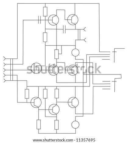 Hotel Drawing Plan Cad Blueprint Stock Illustration