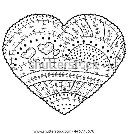 Grunge Black Just Married Heart Icon Stock Vector