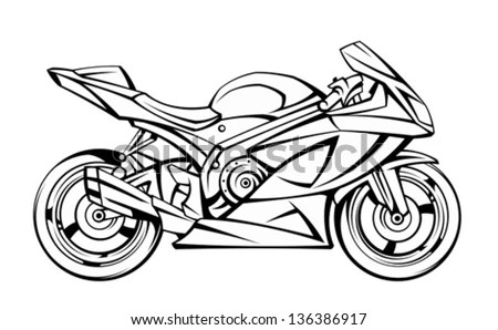 Motorcycle Drawing Stock Images, Royalty-Free Images