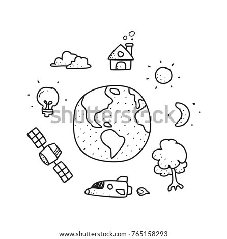 Earth Doodle Stock Images, Royalty-Free Images & Vectors