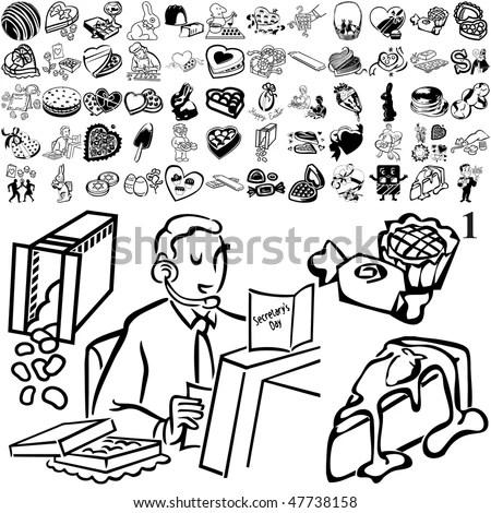 Bookkeeper Sitting Desk Documents Stock Illustration