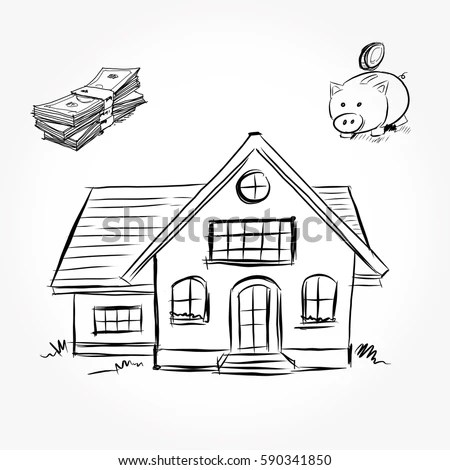 House Drawing Stock Images, Royalty-Free Images & Vectors