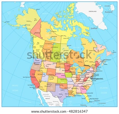 Us Canada Map Stock Images RoyaltyFree Images amp Vectors