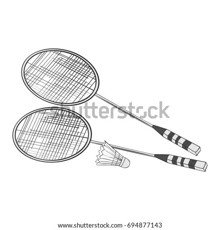 Badminton Vector Stock Images, Royalty-Free Images