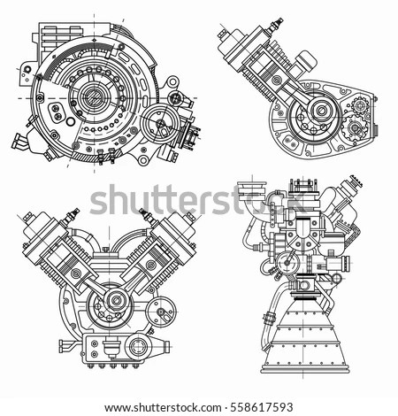 Engine Stock Photos, Royalty-Free Images & Vectors