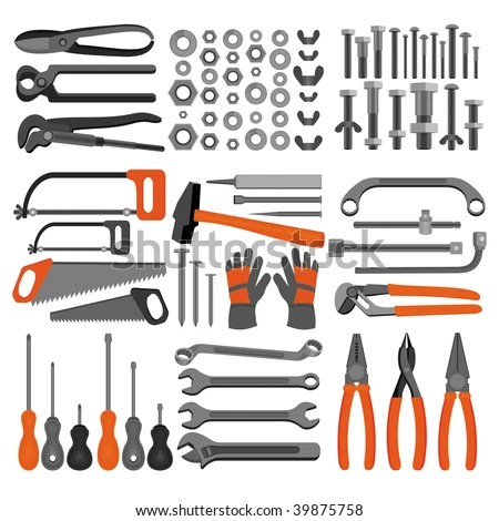 icons - Hand tools (Set 4) Icons of tools for engineering, carpentry ...