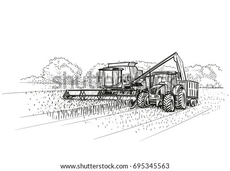 Tractor-drawn Stock Images, Royalty-Free Images & Vectors