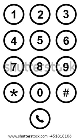 Phone Keypad On Touchscreen Device Stock Illustration
