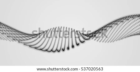 Spiral 3d Vector Illustration Connection Structure Stock