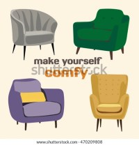 Vector Interior Design Elements Modern Furniture Stock ...