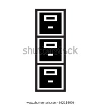 Filing Cabinet Icon Stock Vector 662116006 - Shutterstock