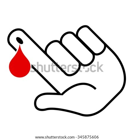 Blood Test Icon Vector Illustration Isolated Stock Vector
