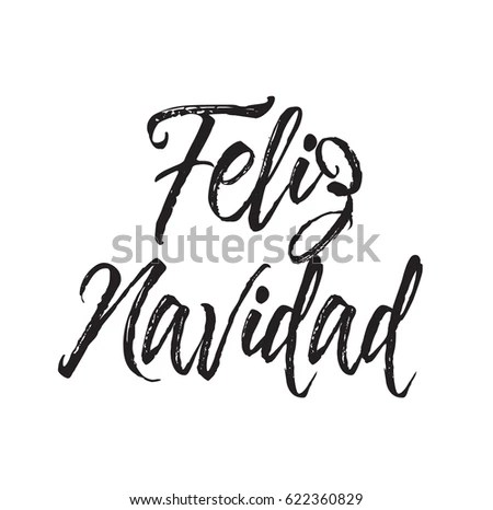 Feliz Navidad Text Design Vector Calligraphy Stock Vector