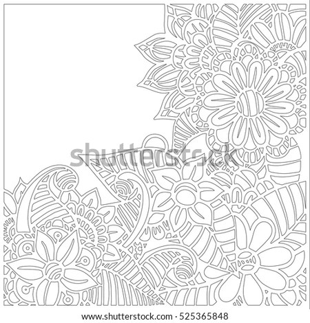 Waterlilies Isolated On White Forest Wild Stock Vector