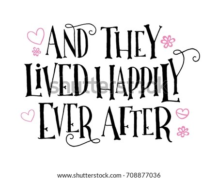 They Lived Happily Ever After Vector Stock Vector